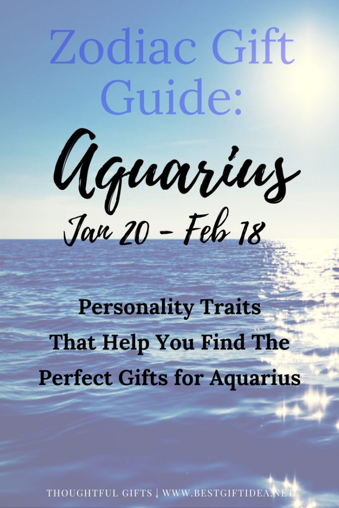 Aquarius gift guide + brief info
