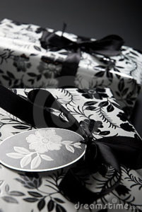 black and white gift wrapping