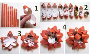 recycled paper bows gift wrapping
