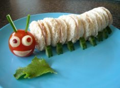 Caterpillar Sandwiches by Funky Lunch