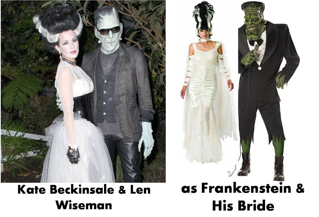 Image source: https://www.pinterest.com/pin/257760778646806974/ Click to check Frankenstein's Bride Costume Frankenstein Costume
