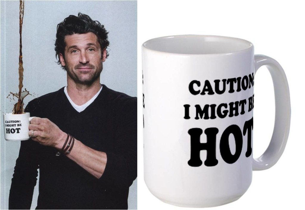 Coffee & Patrick Dempsey?My morning is complete! - Check this awsome mug here