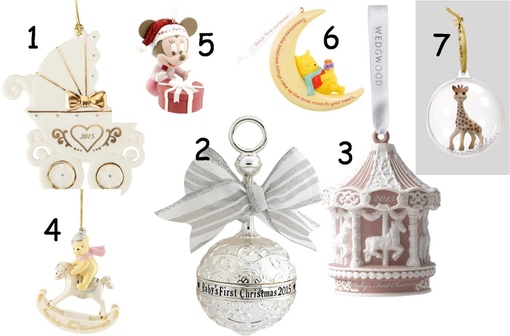 1st christmas baby ornaments