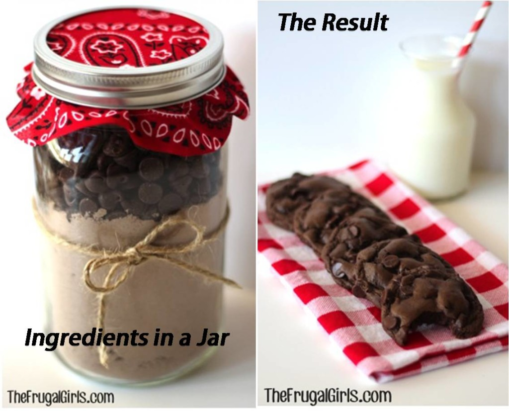 chocolate cookies gift in a jar recipe