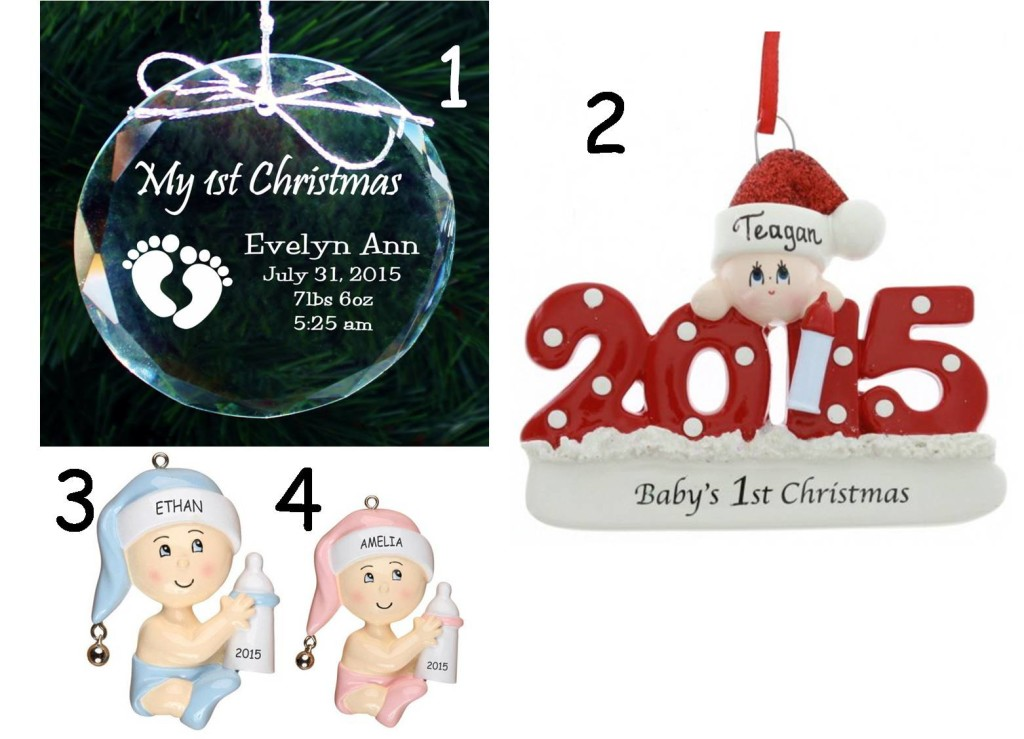1st christmas personalized ornaments
