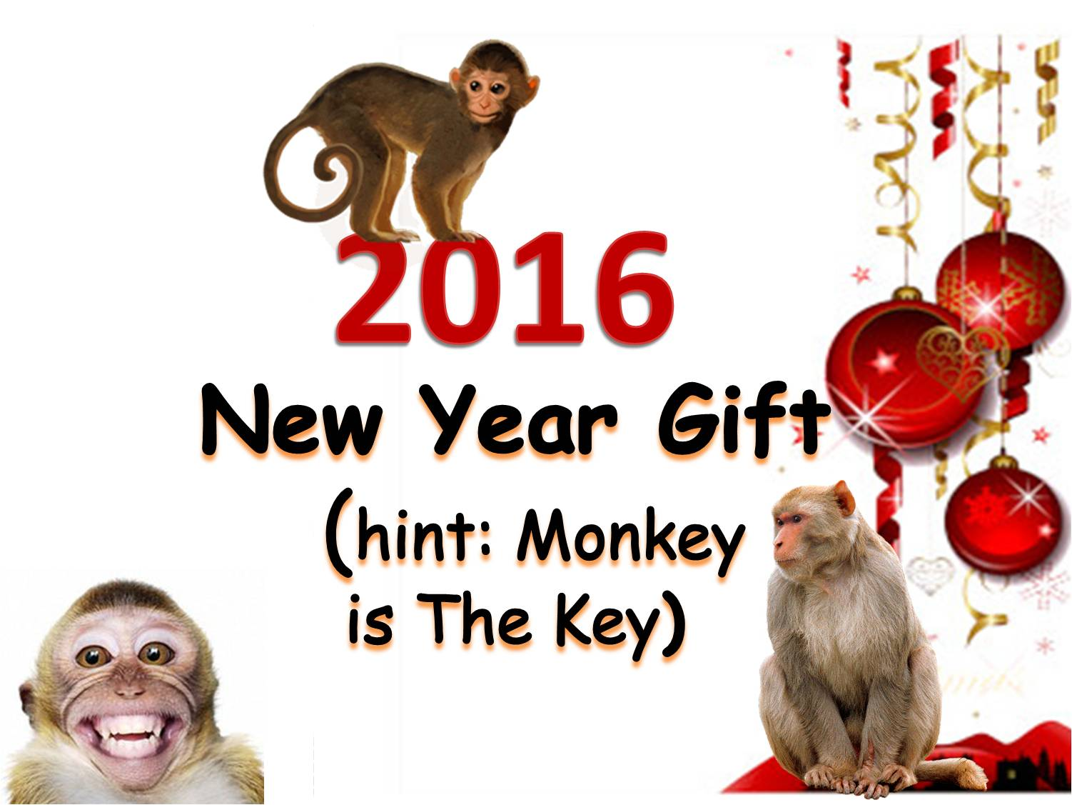 Best gift idea new year gift idea 2016 monkey is the key - Best new year gift ideas ...