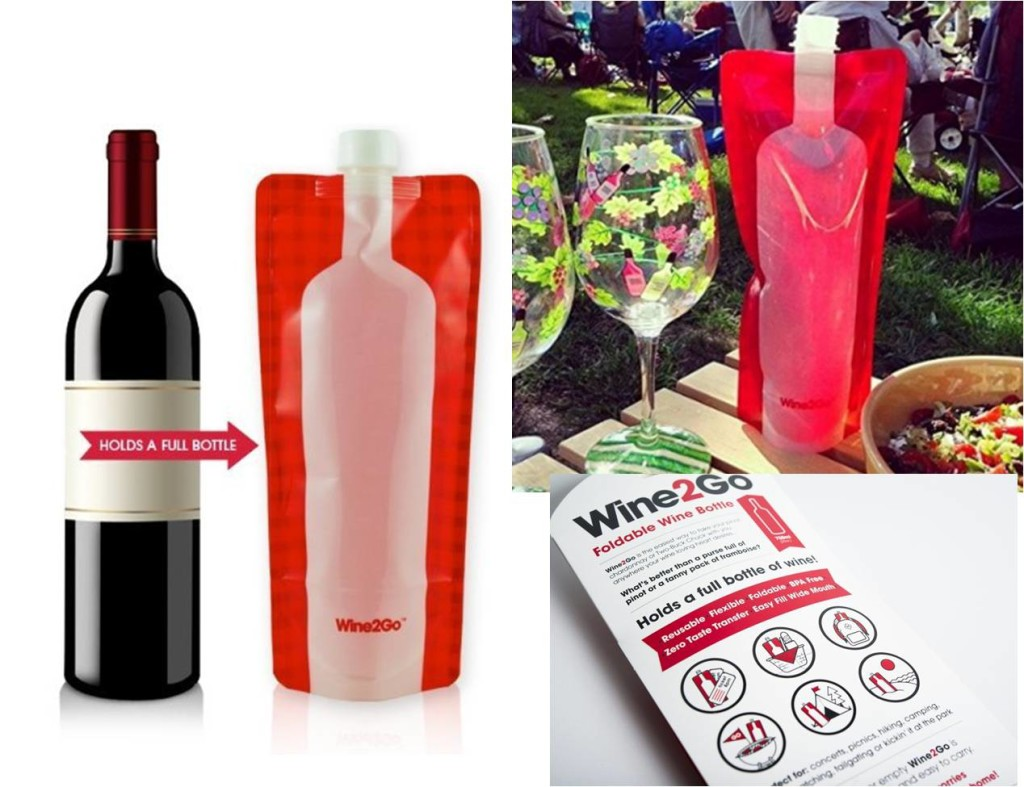 foldable wine bottle on the go