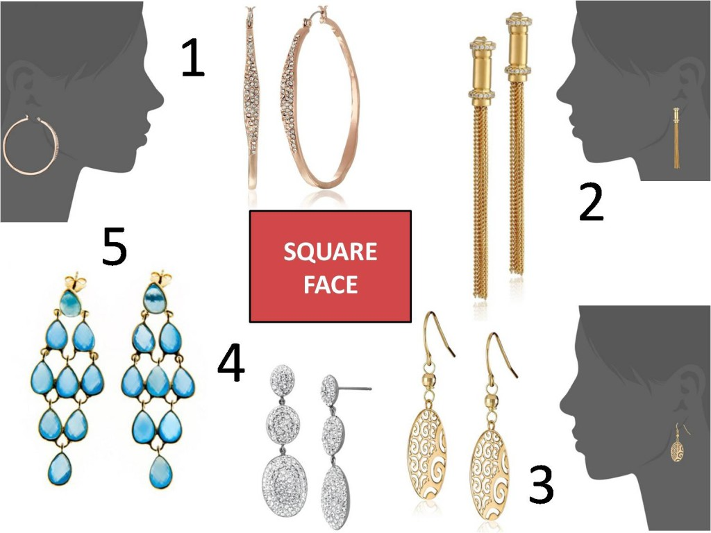 square face earrings