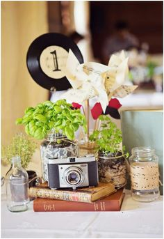 disposable camera centerpiece