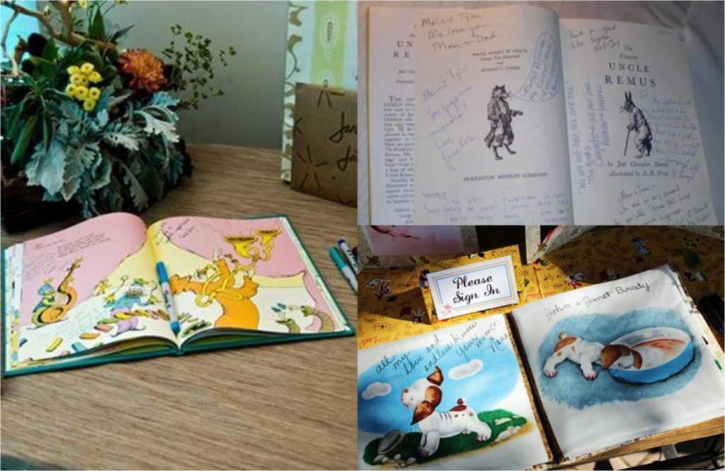 one of a kind wedding guest book