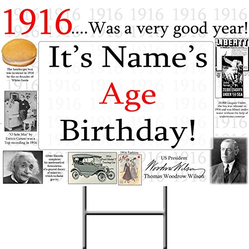 1916 PERSONALIZED YARD SIGN (EACH)