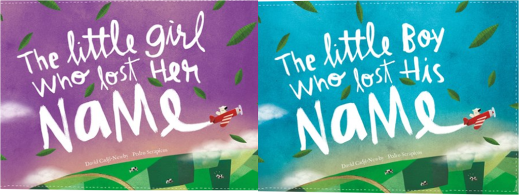lost my name book covers