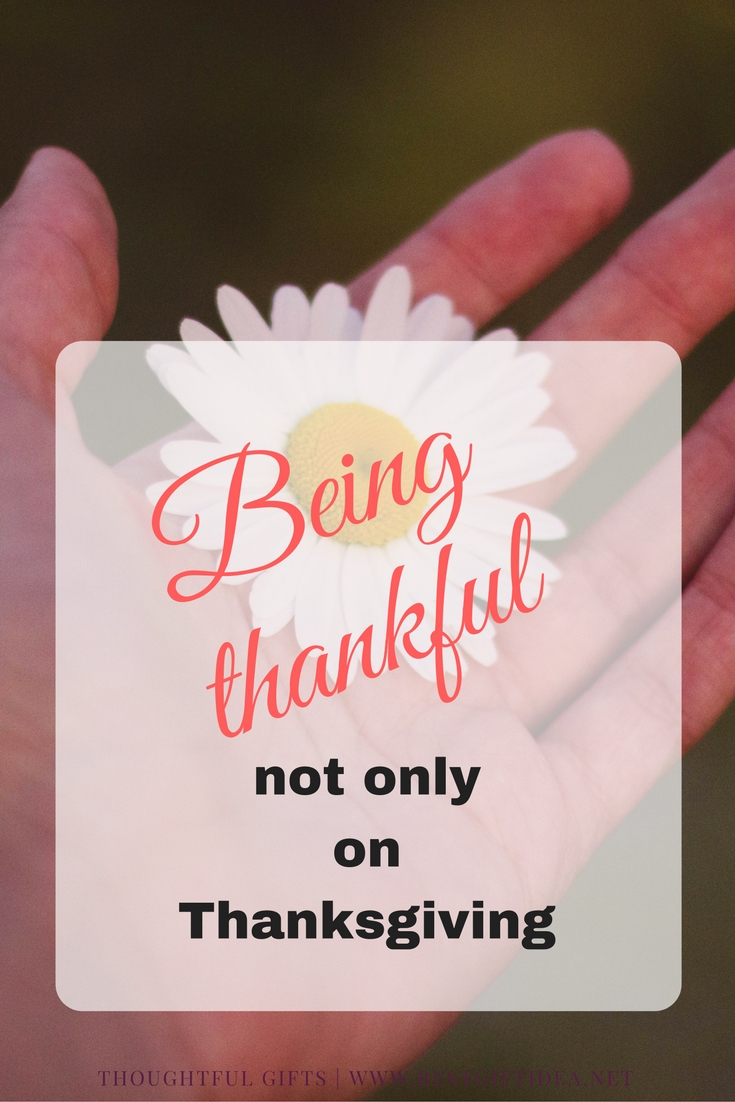 Being thankful on Thanksgiving day is easy