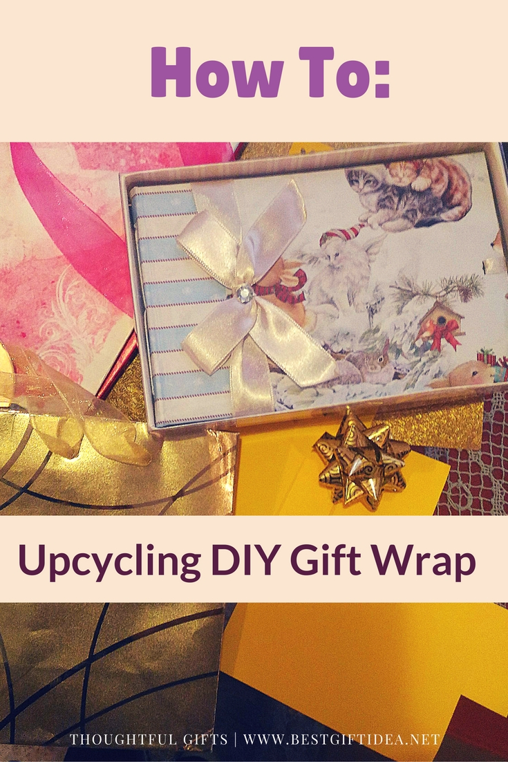 how to-upcycling diy gift wrap