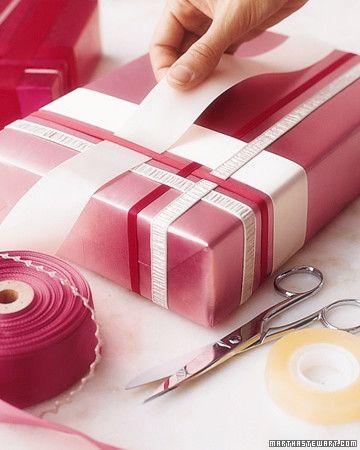 weaving paper gift wrapping