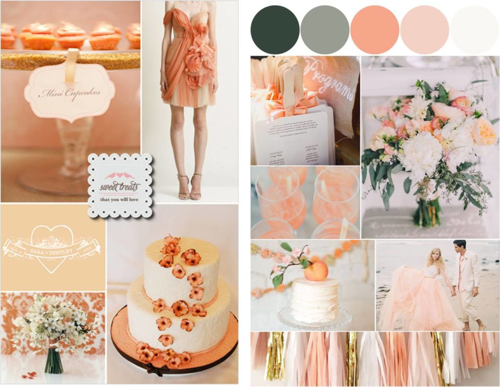 apricot color decoration
