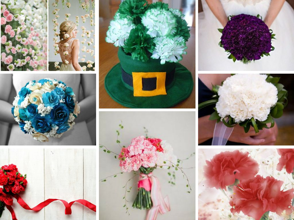 Best gift idea carnation flower meaning flower of the month images clockwise pink white carnation backdrop via big little things green carnations centerpiece via craftelf purple wedding carnations mightylinksfo