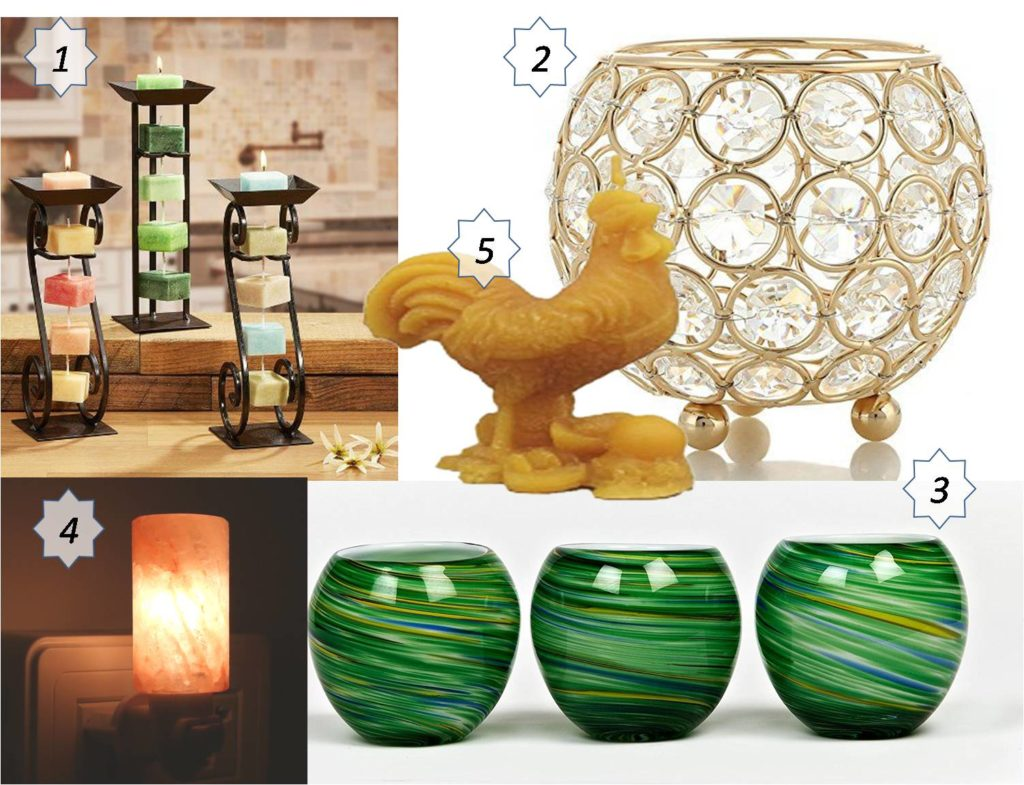year of the rooster candleholders