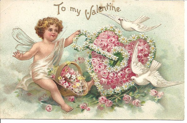 vintage valentines greeting card
