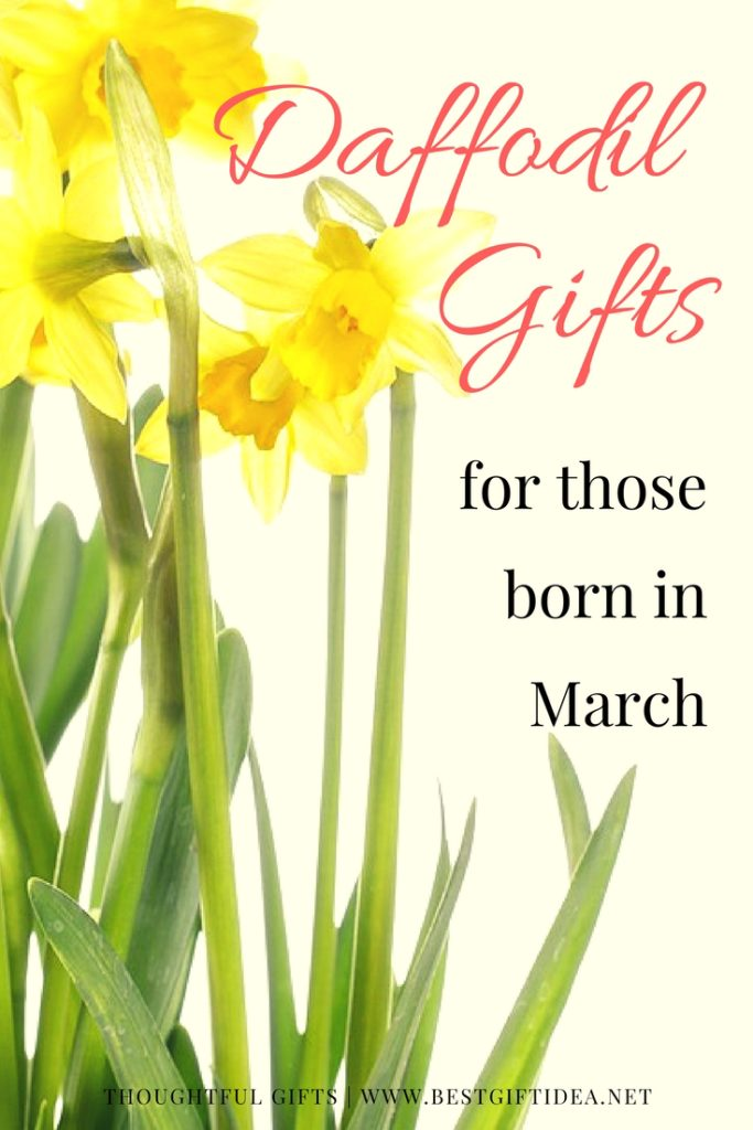daffodil gifts for those born in march
