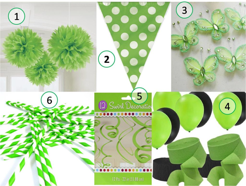 st patricks day shades of green decoration